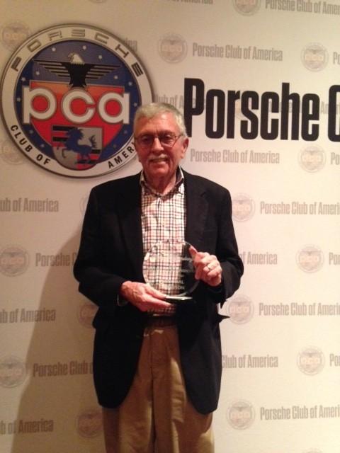 John receiving his trophy as 2015 Class C Club Racing chamption