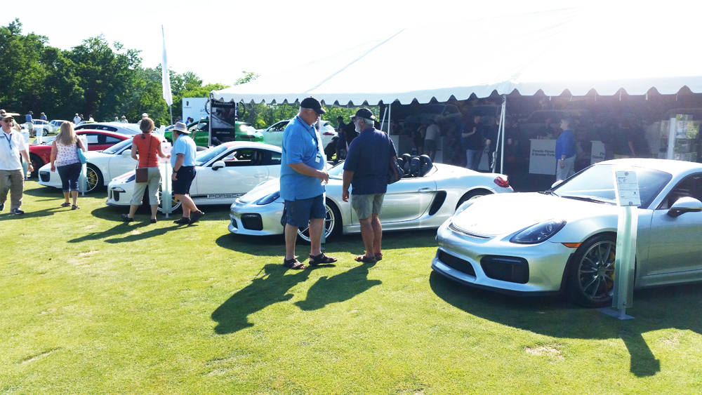 Porsche Display at the Concours