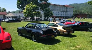 Cars on the lawn