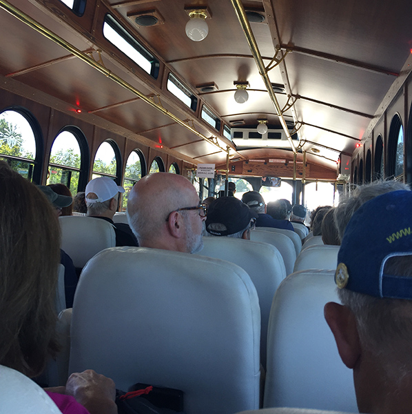 Aboard the trolley ride