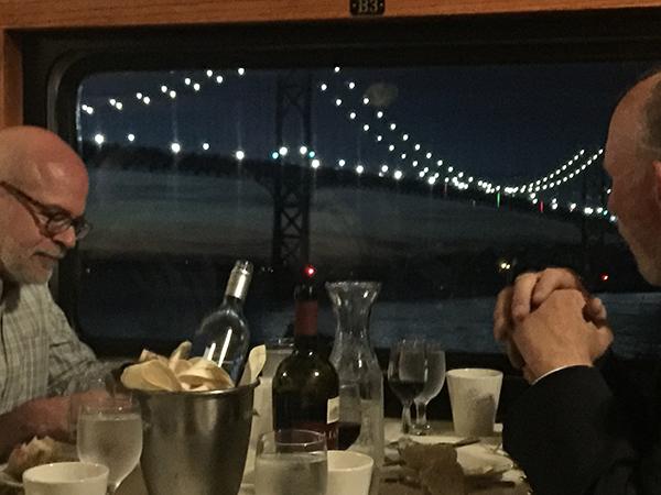 Dinner aboard the train